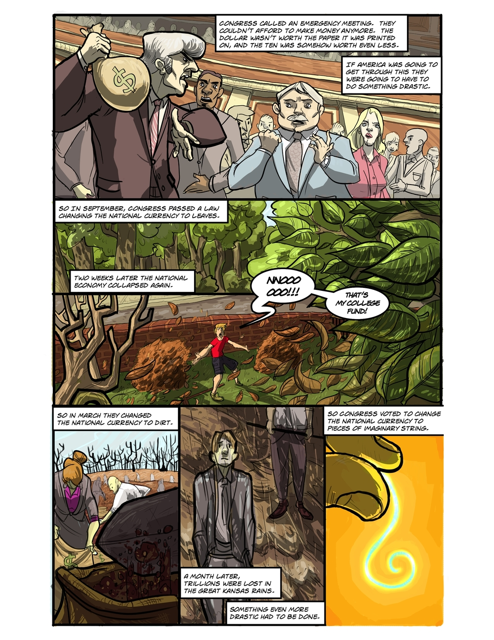 IMAGINARY STRING page 2 - story 20 in The Book of Lies