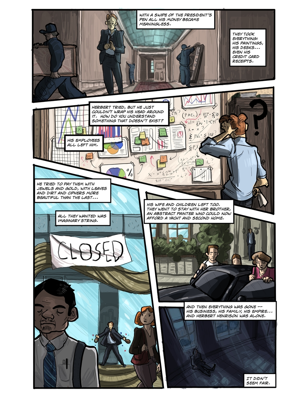 IMAGINARY STRING page 7 - story 20 in The Book of Lies
