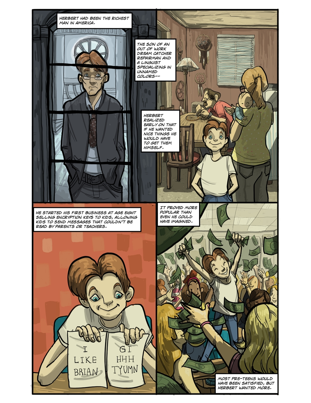 IMAGINARY STRING page 4 - story 20 in The Book of Lies