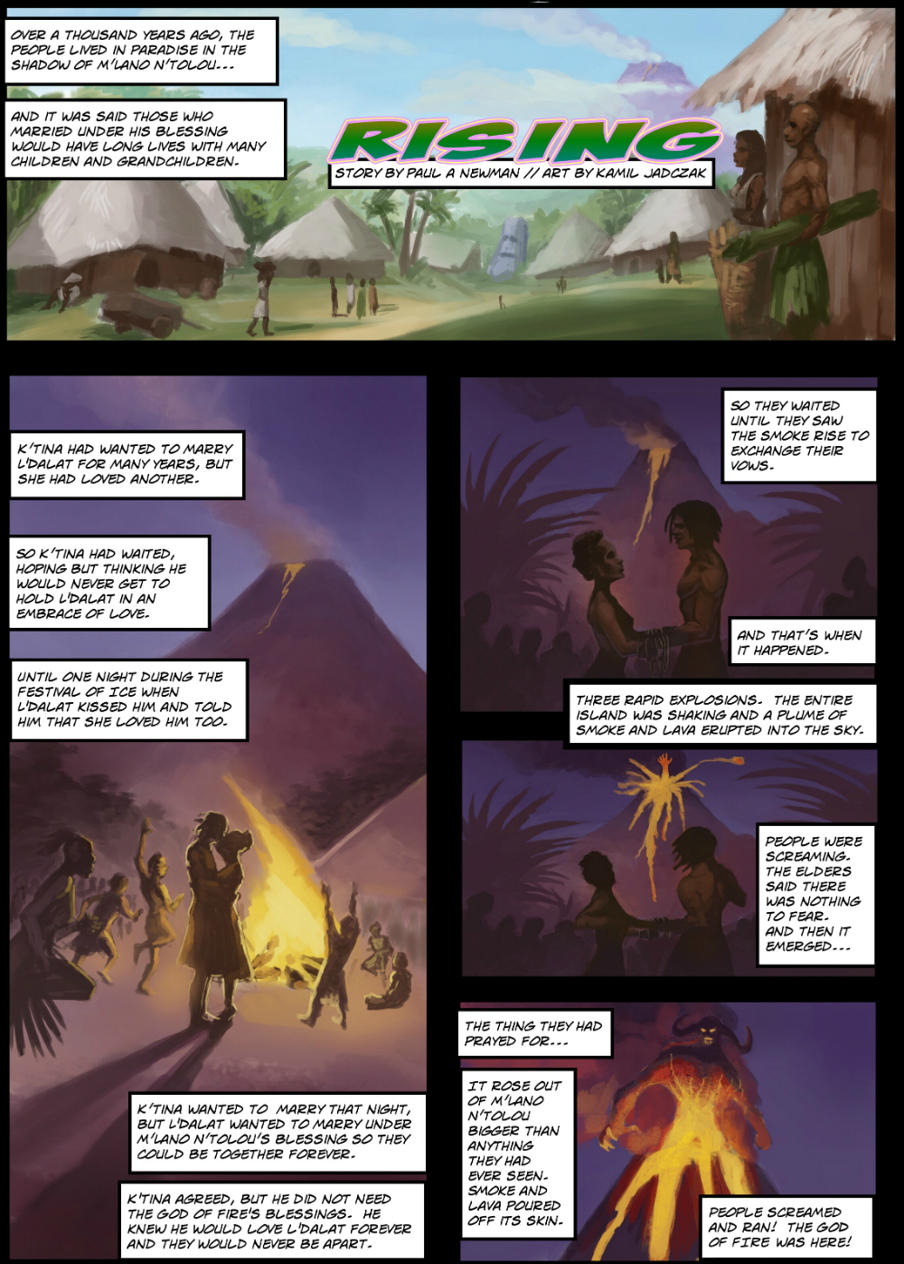 RISING page 2 - story 22 in The Book of Lies
