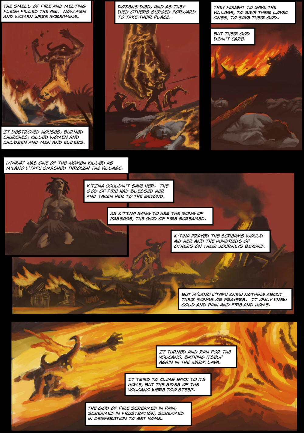 RISING page 4 - story 22 in The Book of Lies
