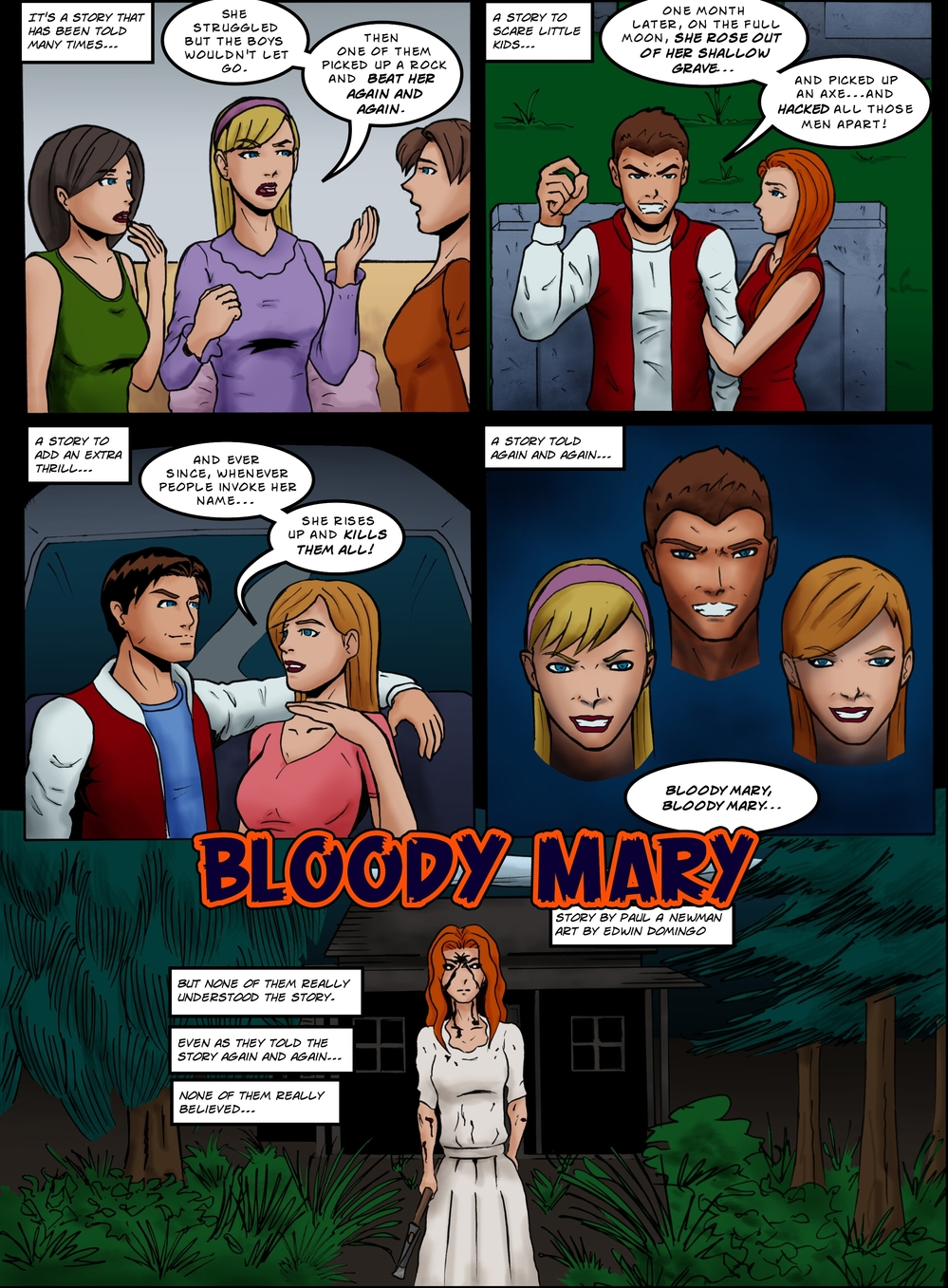 BLOODY MARY page 1 -- story 25 in The Book of Lies