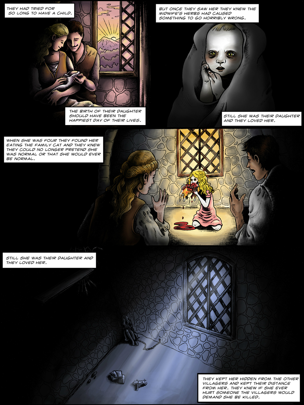 THE TOWER page 1 - story 1 in The Book of Lies
