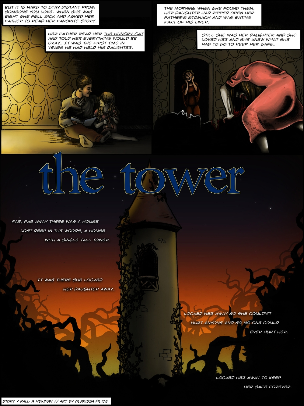 THE TOWER page 2 - story 1 in The Book of Lies