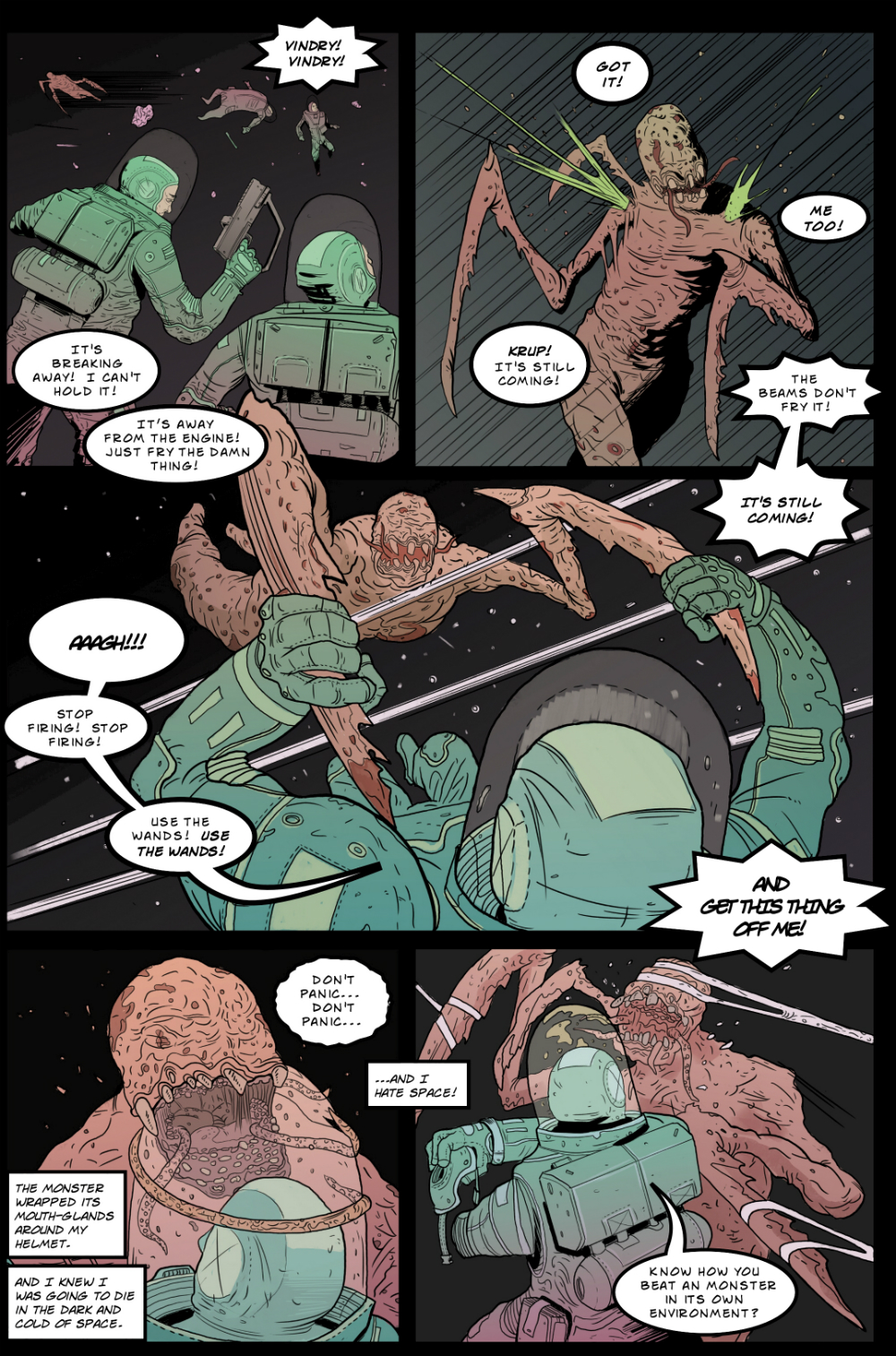 IN SPACE page 7 -- story 24 in THE BOOK OF LIES