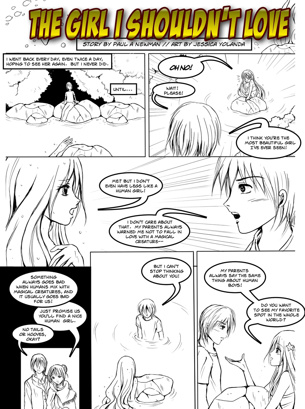 THE GIRL I SHOULDN'T LOVE page 2 - story 10 in The Book of Lies