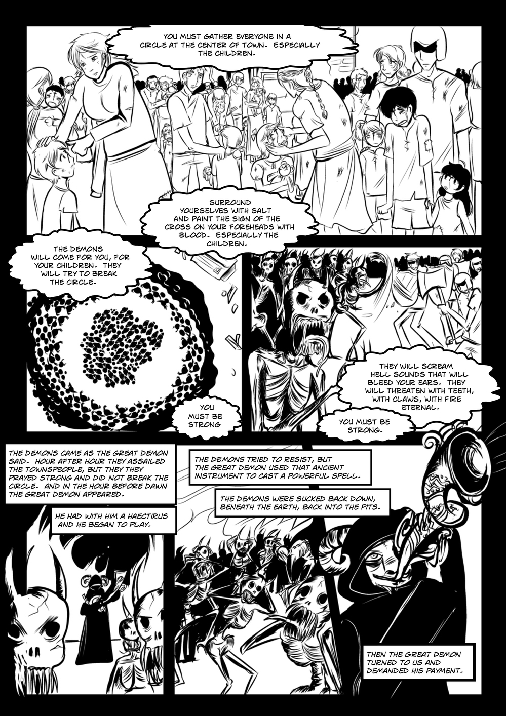 CITY OF DEMONS page 4 -- story 3 in The Book of Lies