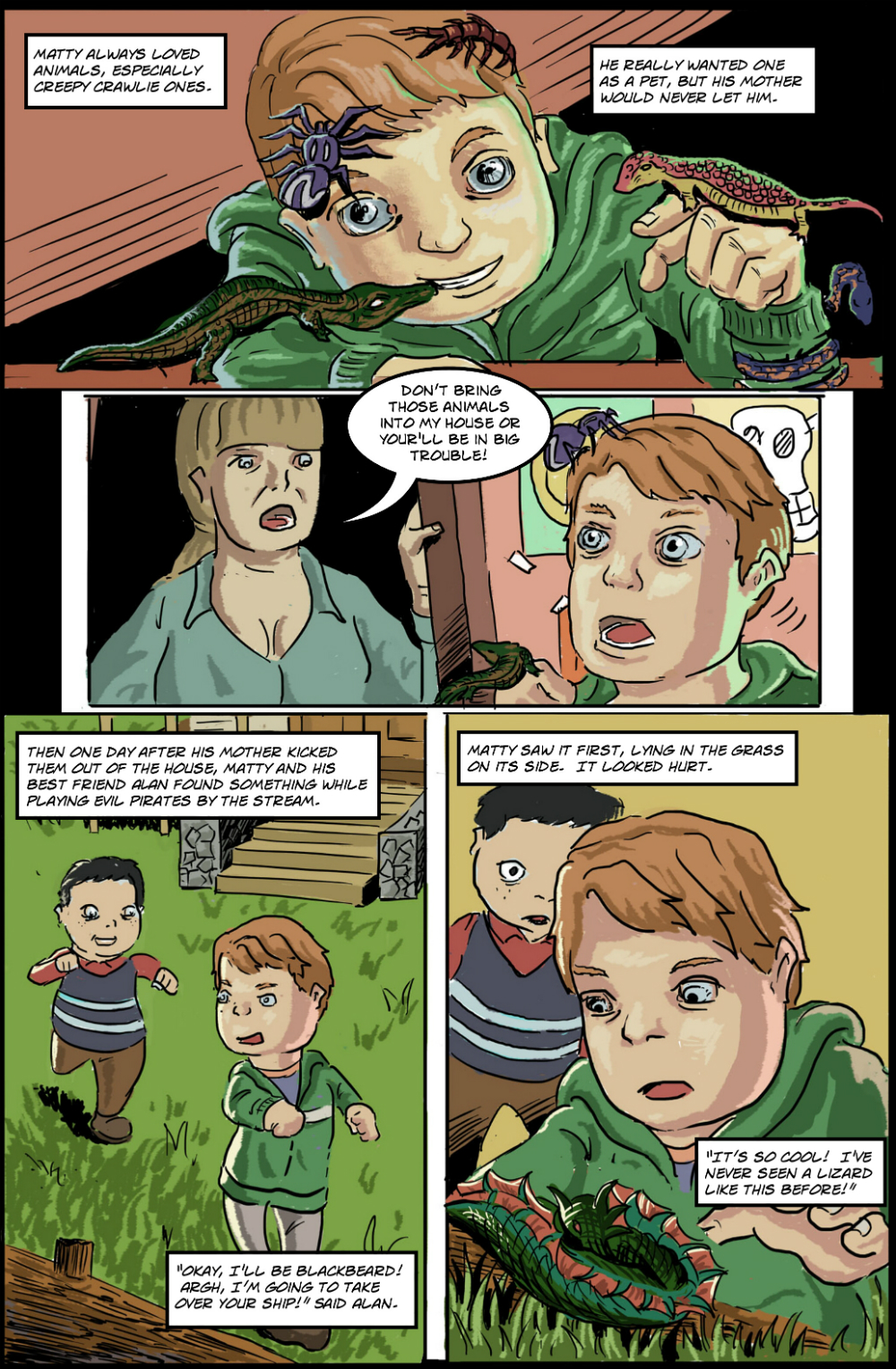 BASILISK IN THE HOUSE page 1 - story 18 in The Book of Lies