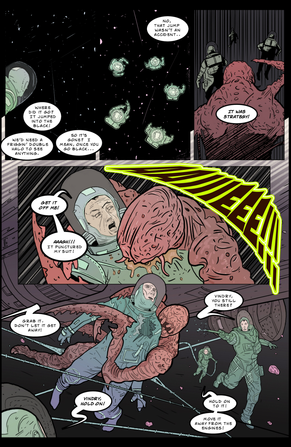 IN SPACE page 6 -- story 24 in THE BOOK OF LIES