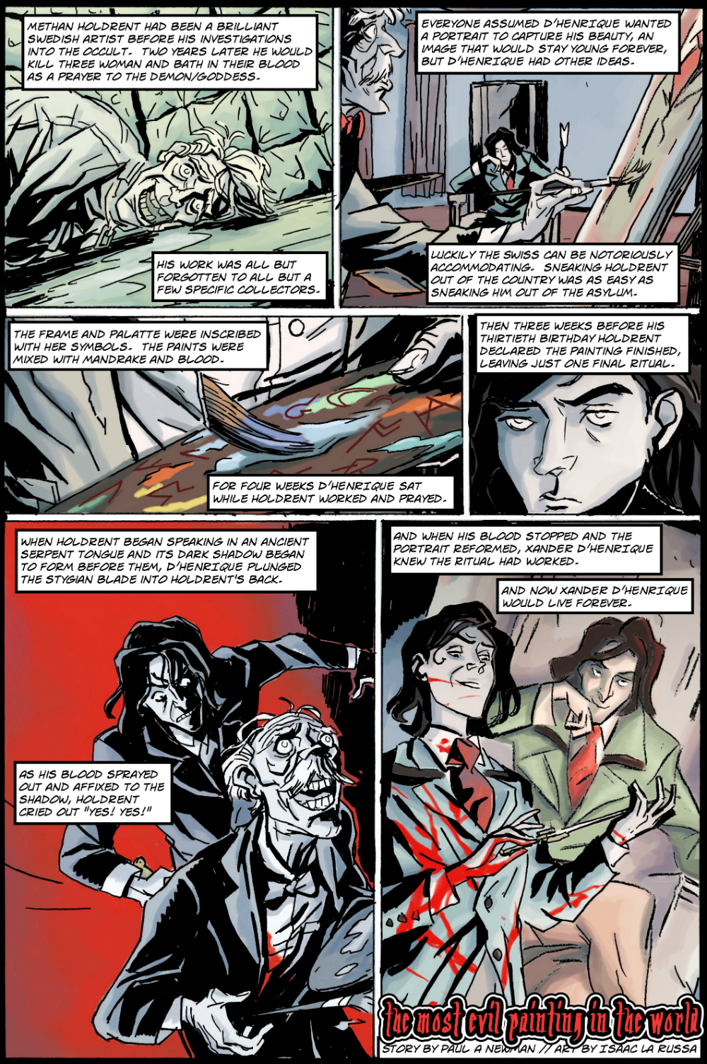 MOST EVIL PAINTING IN THE WORLD page 2 - story 17 in The Book of Lies
