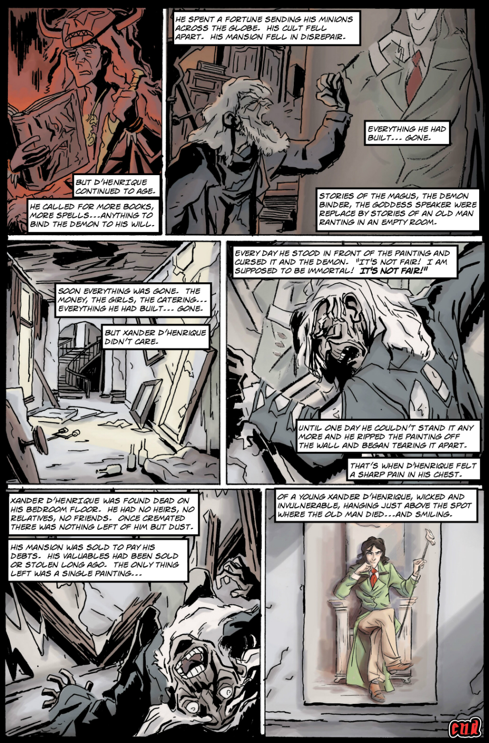 MOST EVIL PAINTING IN THE WORLD page 6 - story 17 in The Book of Lies