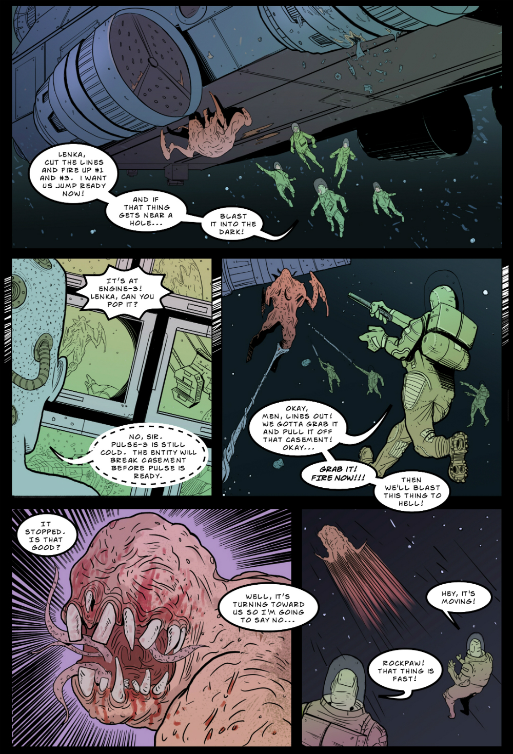IN SPACE page 5 -- story 24 in THE BOOK OF LIES