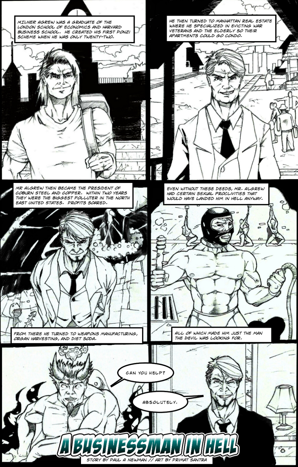 BUSINESSMAN IN HELL page 2 - story 4 in The Book of Lies