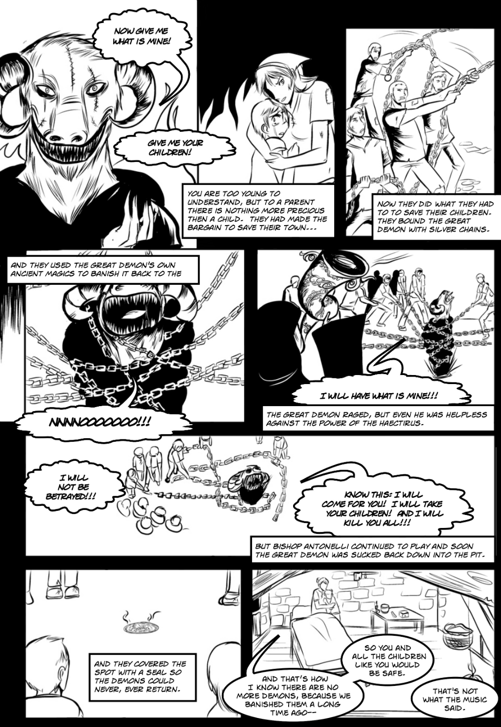 CITY OF DEMONS page 5 -- story 3 in The Book of Lies
