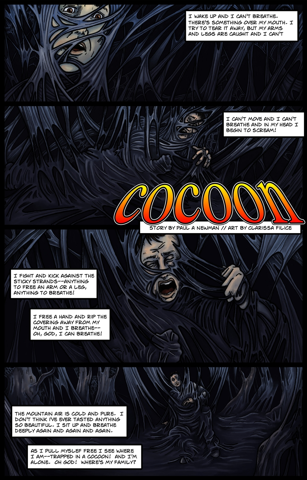 COCOON page 1 - story 9 in The Book of Lies