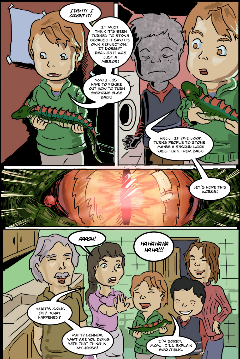 BASILISK IN THE HOUSE page 11 - story 18 in The Book of Lies