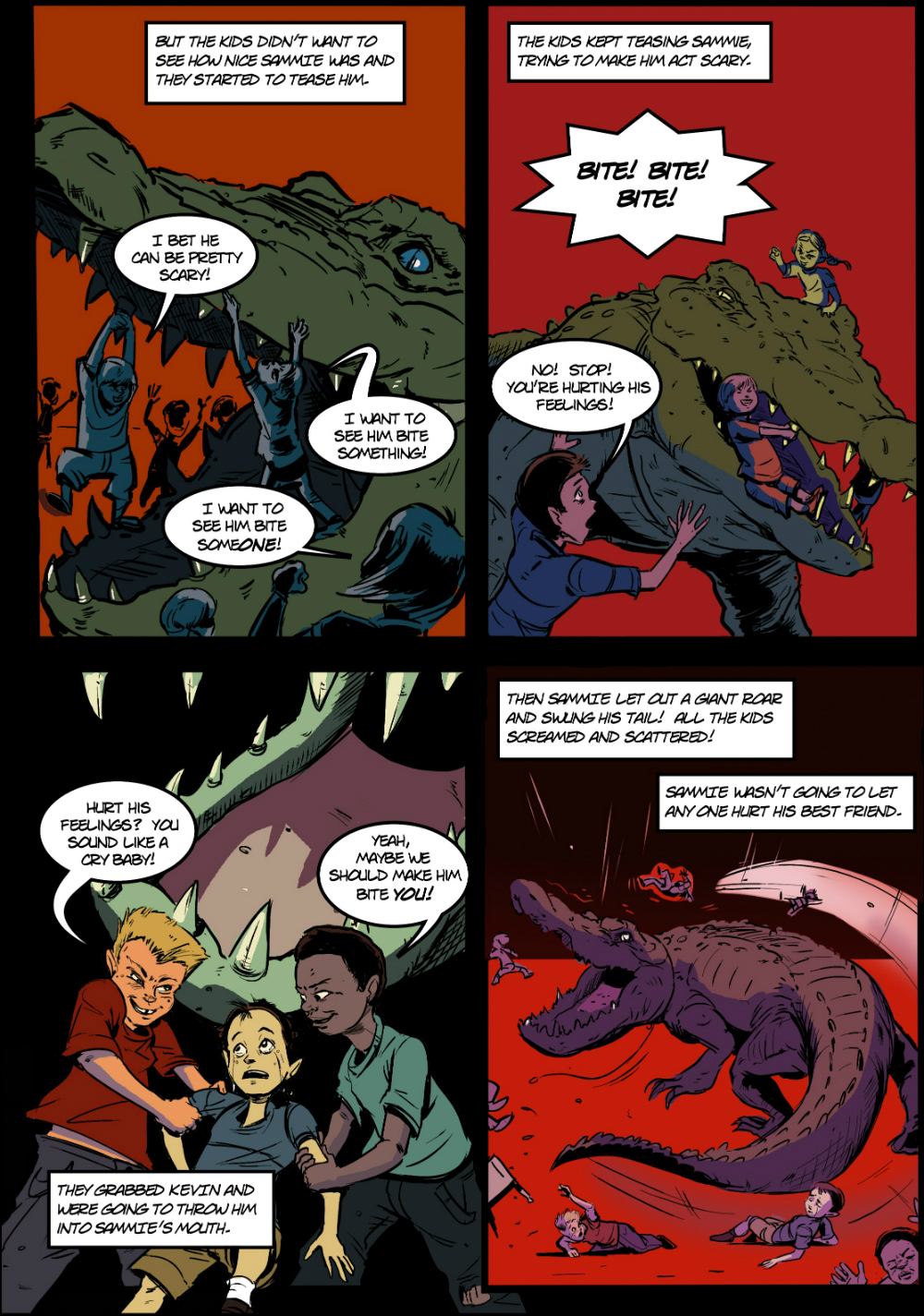 PET CROC page 4 - in The Book of Lies