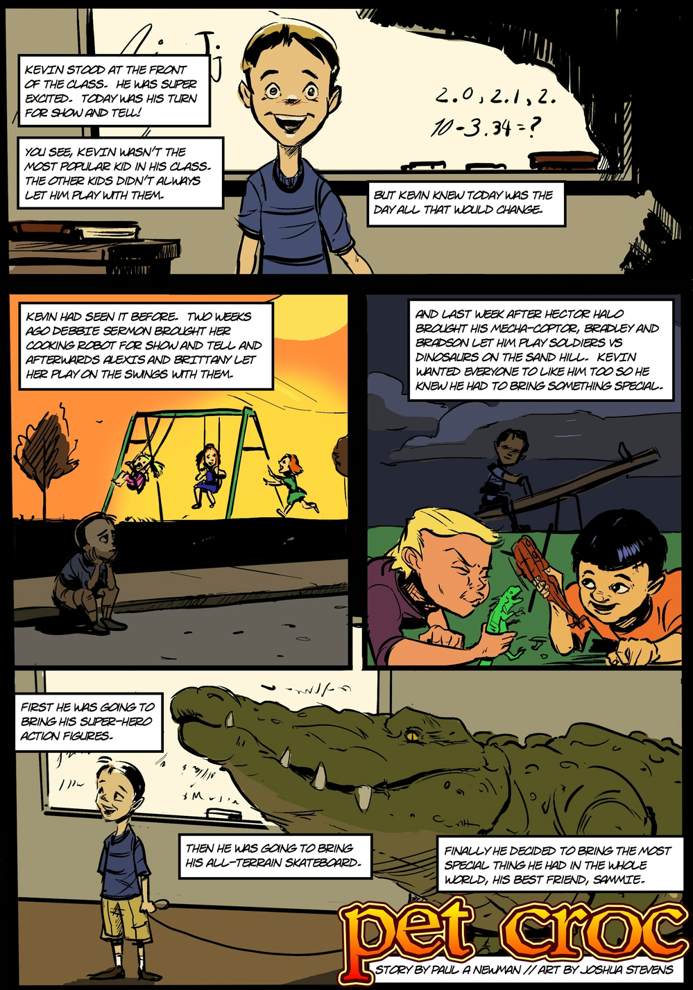 PET CROC page 1 - in The Book of Lies